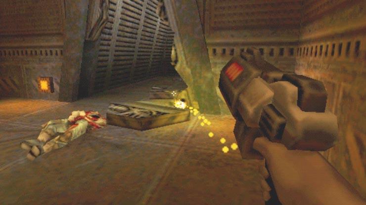Quake 2 con aceleración 3D 3DFX